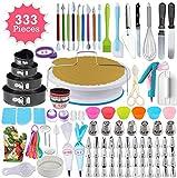 333pcs Cake Decorating Kit - Complete Cake Decorating Supplies & Baking Supplies - Baking Kit with 2...