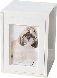 【Amazon商品】【ディアペット限定】国産 ペット仏壇 クリメイションボックス ホワイト 4寸ペット骨壷サイズ