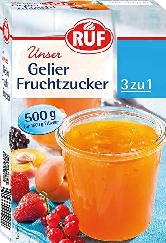RUF Gelier-Fruchtzucker 3 zu 1 für selbstgemachte Marmelade, Konfitüre oder Gelee, (1 x 500 g)