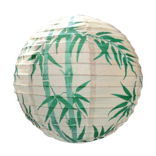 Lighting Web Abat-jour en papier Design bambou Vert 40 cm