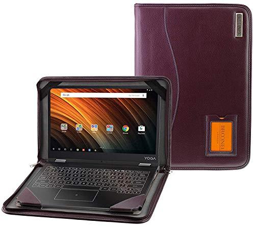 Broonel - Serie Contour - Funda Protectora De Cuero Púrpura De Alta Resistencia Compatible con La Lenovo Yoga C930