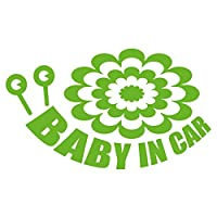imoninn BABY in car ステッカー 【パッケージ版】 No.27 デンデンムシさん (黄緑色)