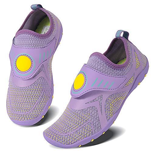 Vivay Zapatos acuáticos de secado rápido para niños y niñas, para natación, buceo, surf, deportes acuáticos, color, talla 35 EU