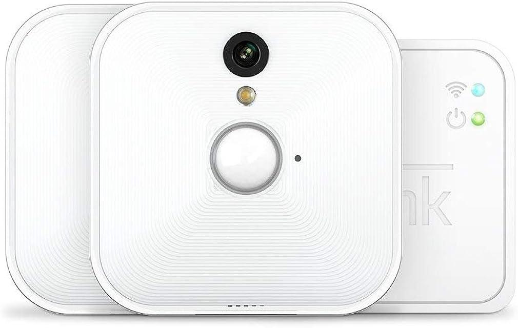Blink Sistema de cámaras de seguridad para interiores con detección de movimiento vídeo HD 2 años de autonomía y almacenamiento en el Cloud - 2 cámaras