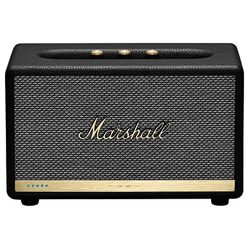 Marshall Acton II Voice Google Assistant Black Cassa Acustica Attiva Bluetooth