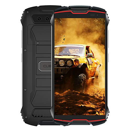 CUBOT Kingkong Mini 2 Smartphone, Outdoor Handy, 4 Zoll Display, 3GB RAM/32GB Interner Speicher, 3000mAh Akku, 13MP Kamera, Android 10, Dual SIM, Schwarz+Rot