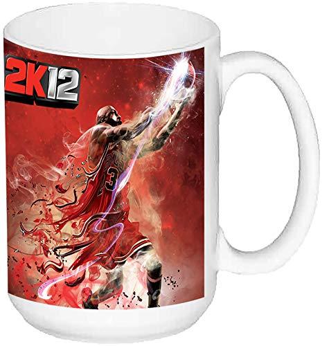 MasTazas NBA 2K12 Taza Grande Ceramica 15 oz ≈ 443 ml