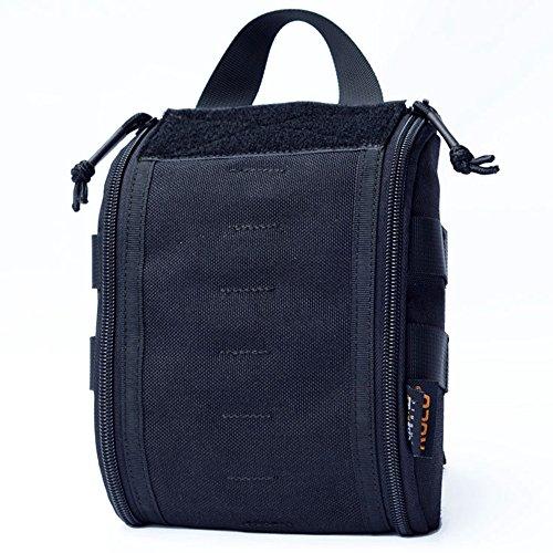 Sac médical Tactique Molle 1000D Nylon Rip-Away EMT Pouch Tactical Medical Pouch First Aid Kit Sac (Noir)