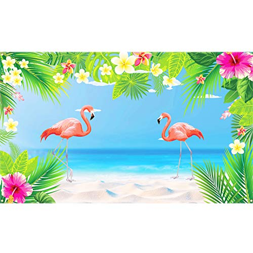 CHALA Flamingo Banner Flamingosparty Deko Hintergrund Fotografie Hawaii Wand Dekoration Aloha Luau Zubehör Foto Booth für Tropical Sommer Pool Party