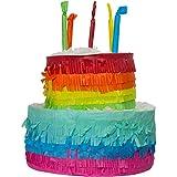Folat- Piñata Pastel Rainbow Bday-25x23cm, Multicolor (65837)