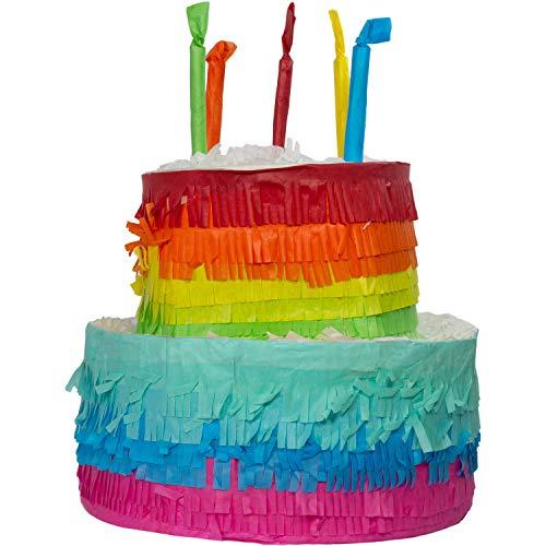 Folat- Gâteau Pinata Rainbow Bday-25x23cm, 65837, Multicolore