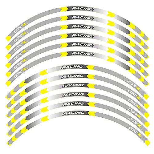 para B-M-W G310R G310 R Pegatinas De Borde Exterior De Motocicleta Ruedas Borde De Película Calcomanías Reflectantes Pegatina De Decoración De Neumáticos (Color : 7)