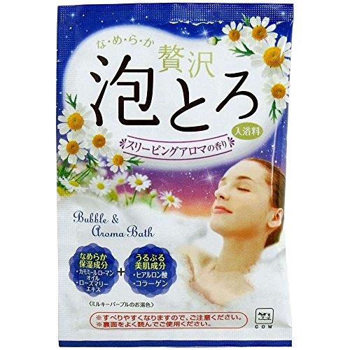 牛乳石鹸『お湯物語 贅沢泡とろ 入浴料 スリーピングアロマの香り』