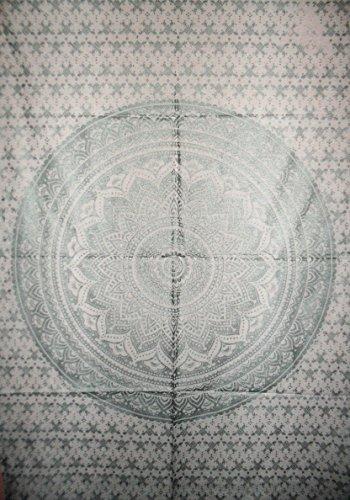 traditionnel Jaipur Mandala Argent Ombre Sticker mural D?cor mural, indien, hippie tapisseries, Bohemian Mur ? suspendre, Gypsy Dortoir d?cors, Boho, d?coration murale, taille 76,2?x 101,6?cm