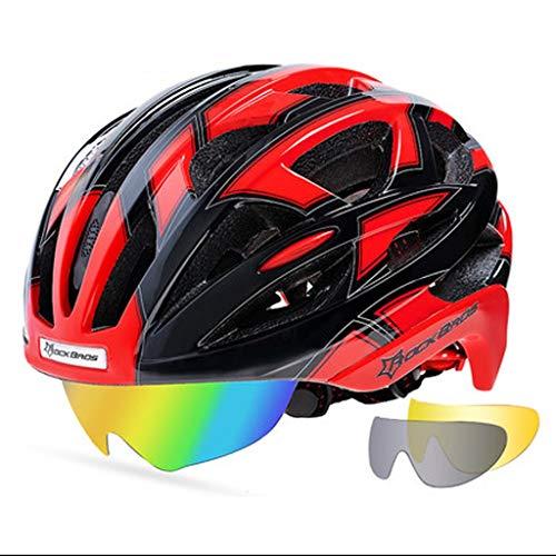 JM- Fahrradhelm Fahrradhelm mit Brille Männer und Frauen eine Mountainbike Helm Ausrüstung (Color : D)