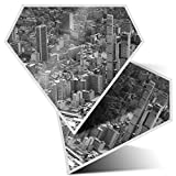 2 pegatinas de diamante de 7,5 cm BW – Bogotá Colombia City Paisaje divertido calcomanías para portátiles, tabletas, equipaje, libros de chatarra, frigorífico, regalo genial #42612