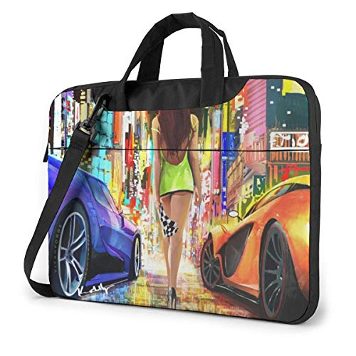 Fashion Sexy Racing Girl Laptop Bag Tablet Briefcase Portable Protective Case Cover 14 inch LAP-4615