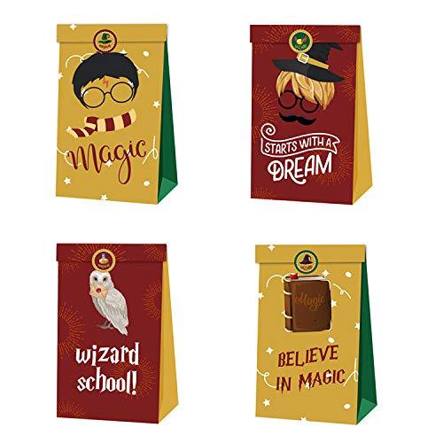 Boîtes de fête Sac d'anniversaire pour Enfant, 12 pcs Harry-Potter cadeaux boîtes, boîtes de bonbons Thème réutilisable Sacs de fête pour anniversaires enfants La fête favorise le sac de fête