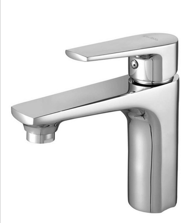 Xiujie Faucet Hot and Cold Faucet Copper Single Hole Faucet Bathroom Kitchen Faucet