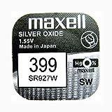 Maxell 399 / SR927W - Batteria per orologio, ossido d'argento