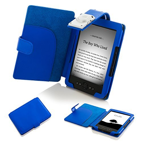 Forefront Cases Cover for Amazon Kindle 2012 (4th & 5th Generation) Case Cover with detachable LED Reading Light - Extra Padded Rugged & Full Device Protection - Blue
