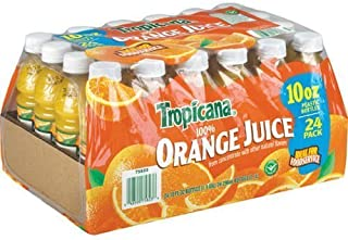 Tropicana 100% Orange Juice - 24/10 oz. bottles - CASE PACK OF 2