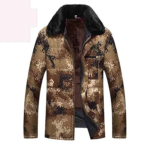 Oudere jas van middelbare leeftijd broek ski-wear pakken en katoen dikke winterbont kraag camouflage overalls pak outdoor winter kleding