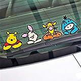 Winnie the Pooh Wall Sticker Car Accessories Funny Winnie the Pooh Sticker for Motorcycle Skateboard Chevrolet Car Sticker
