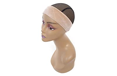 Hair Extensions & Wigs Ladies Elastic Wig Caps Women Hair Wigs S Invisible Nylon Tocking Cap Weaving Mesh Net Elastic Fishnet 1pc Fashion New Hot Bright And Translucent In Appearance