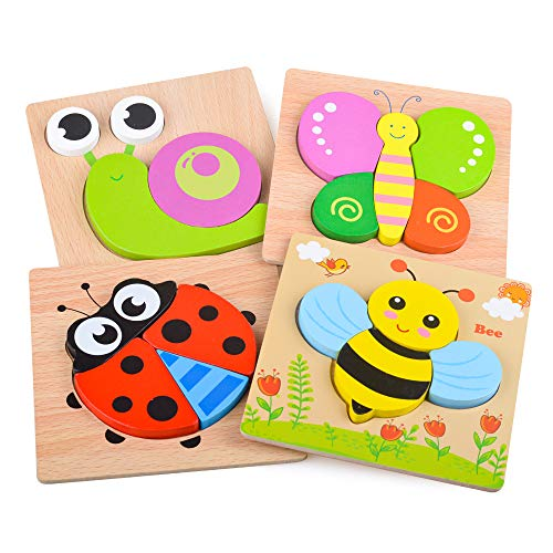 Wooden Puzzle Toy for Babies Girl Kids, Jigsaw Toddler Animal Puzzle...