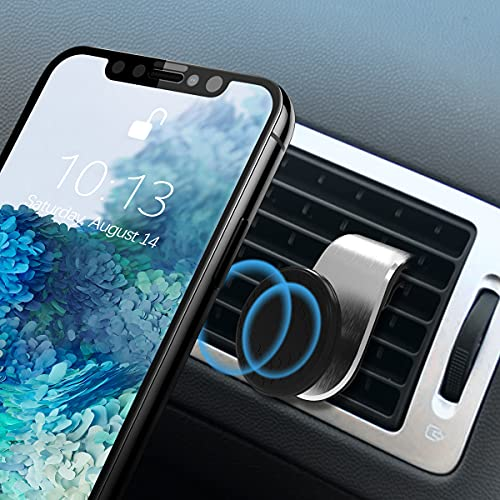 Magnetic Phone Mount for Car, 360°Adjustable Universal Cell Phone Holder for Car Air Vent Mount Fits 3-7 inch Mobile Phone and More Devices (Silver)