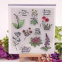 クリアスタンプ小花DIYスクラップブックカードアルバムペーパークラフトシリコンゴムローラー透明スタンプB02