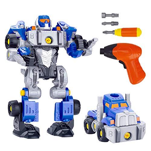 GILOBABY 3 in 1 DIY ロボット車セット 組み立て おもちゃ 変形ロボット 立体パズル 想像力創造力を育てる 教育 学習 モデルDIY おもちゃ 知育玩具 子供用 分解おもちゃ ボルトを締め付け 子供向け プレゼント 子供 誕生日プレゼント