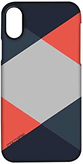 Macmerise IPCIPXPMI0434 Criss Cross Coral - Pro Case for iPhone X - Multicolor (Pack of1)
