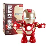 ZSKJ Dancing Iron Man Dance Hero Toys Robot de Baile con música Ligera Bailando para Boy Girls Kids Niños Regalo (Iron Man)