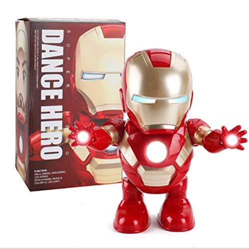 ZSKJ Dancing Iron Man Dance Hero Toys Robot de Baile con música Ligera Bailando para Boy Girls Kids Niños Regalo (Iron Man)