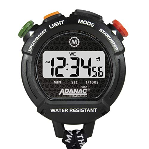 Marathon ADANAC 7000 Professional Grade Digital Stopwatch Timer with Extra Large LCD Display and...