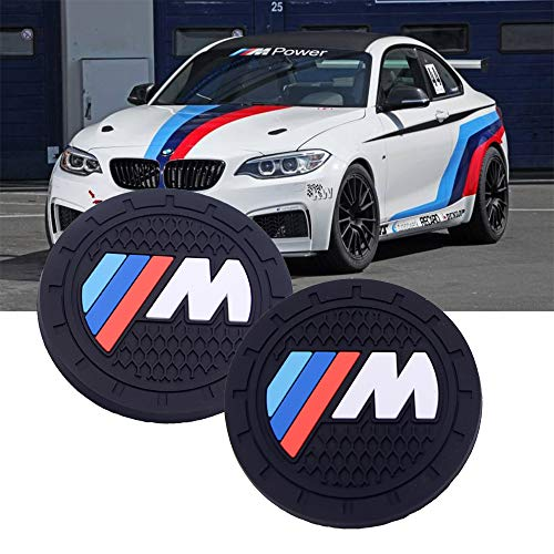 SHENGYAWAUTO Car Interior Accessories Cup Holder,Anti Slip Cup Mat Insert for BMW M All Models 2 Packs,2.75 inch