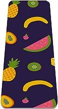 Yoga Mat Antislip TPE fruit collectie patroon Hoge dichtheid vulling om pijnlijke knieën te voorkomen, Perfect voor yoga, ...