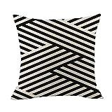 Gaoqi Funda de Almohada, 2020 Nueva Funda de Almohada de Lino geométrica para sofá, Juego de Almohadillas para arrojar, decoración del hogar