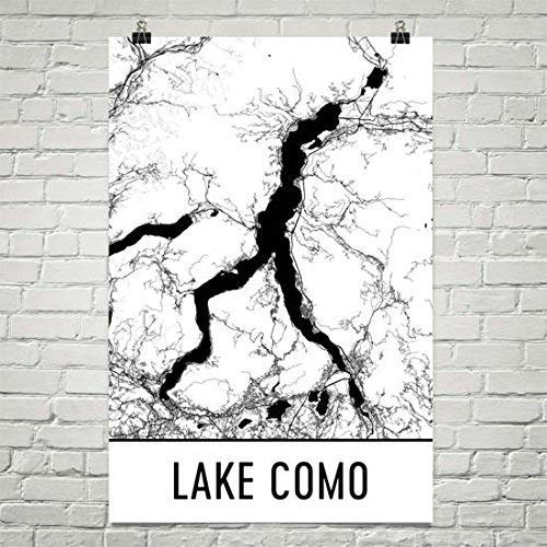 Comomeer Italië, Comomeer IT, Italiaanse kaart, Italiaanse decoratie, Lake Map, Como Lake Art, Italiaanse print, Cottage Decor, Bellagio, Lago Di Como Poster