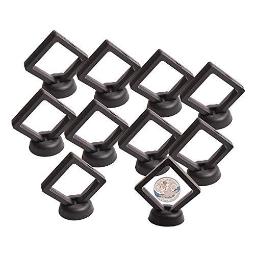 Kaarsenstandaarden Coin Vertoning Box Set Van 10 3D Floating Frame Display Houder Met Stands for Challenge Coins Kandelaar