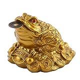 Moneda de la Suerte de la Fortuna del Feng Shui Chino de la Rana del Dinero de Oro del Amuleto de la Prosperidad del Sapo Chino para la decoración de la oración de la Suerte de la Oficina del hogar