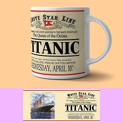 Titanic Blanco Star Line Taza (Og)