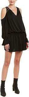 Womens Abigail Cold Shoulder Lace Mini Dress