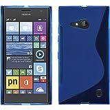 PhoneNatic Case kompatibel mit Nokia Lumia 730 - blau Silikon Hülle S-Style + 2 Schutzfolien