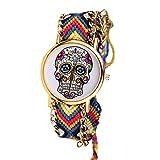 Pulseras réf1s73BR.1160–Reloj brasileño, Diseño de Calavera Mexicana Hippie...