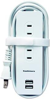 カシムラ 国内・海外両用電源タップ AC4P USB2P 3A WH 1.2m NWM-6
