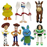 WENTS Toy Story Toys Set of 7 Action Figures with Woody, Buzz and Rex Fun Party Supplies for Toddlers Cake Topper Set for Birthday