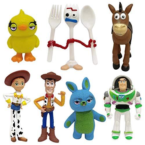 Miotlsy Toy Story Cake Topper Mini Figurine Mini Giocattoli per Bambini e Baby Shower Forniture per la Decorazione della Torta della Festa di Compleanno 7 Pezzi